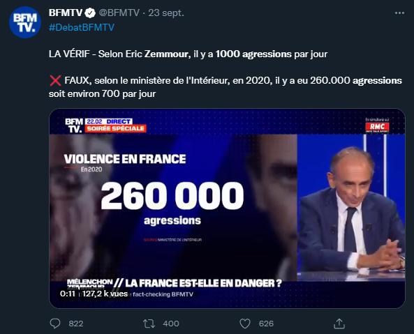 BFM vs Zemmour
